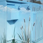 Community art on a utility box (West A Street, Hayward, California)