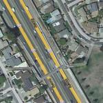 Map showing 880 Pedestrian Bridge (Peterman to Eldridge), Hayward, California
